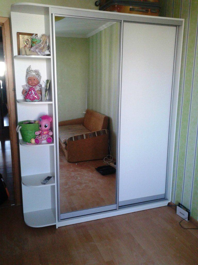 шкаф купе белый с зеркалом фото